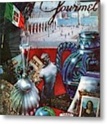 Gourmet Cover Featuring A Variety Of Italian Metal Print
