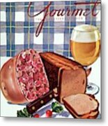 Gourmet Cover Featuring Bread Metal Print