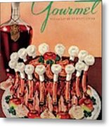Gourmet Cover Illustration Of A Crown Roast Metal Print