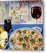 Gourmet Cover Illustration Of A Platter Metal Print