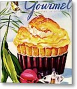 Gourmet Cover Illustration Of A Souffle And Tulip Metal Print