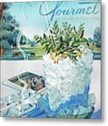 Gourmet Cover Illustration Of Mint Julep Packed Metal Print