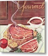 Gourmet Cover Of A Roast Beef Metal Print