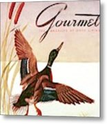 Gourmet Cover Of A Goose Metal Print