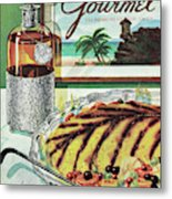 Gourmet Cover Of An Omelette Au Ruhm Metal Print
