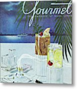 Gourmet Cover Of Cocktails Metal Print