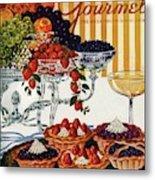 Gourmet Cover Of Fruit Tarts Metal Print