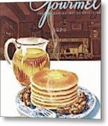 Gourmet Cover Of Pancakes Metal Print