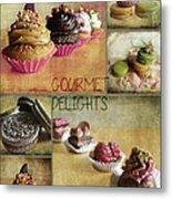 Gourmet Delights - Collage Metal Print