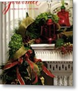 Gourmet Magazine Cover Featuring Christmas Garland Metal Print