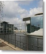 Government Building And Spree Metal Print