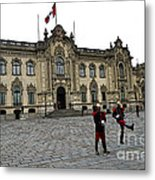 Government Palace Guards In Lima Metal Print