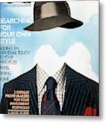 Gq Cover Featuring A Clothes On Top Metal Print