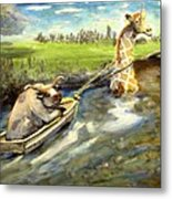 Grace And The Humbled Bull Metal Print
