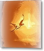 Mississippi Kite - Beauty Into The Light Metal Print