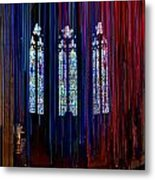 Grace Cathedral With Ribbons Metal Print