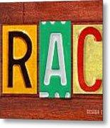 Grace License Plate Name Sign Fun Kid Room Decor. Metal Print