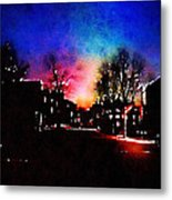 Graduate Housing Princeton University Nightscape Metal Print