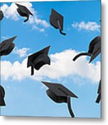 Graduation Mortar Boards Metal Print