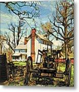Graeme Park Farmhouse View Metal Print
