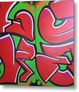 Graff Love Metal Print