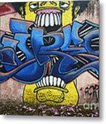 Graffiti Art Curitiba Brazil 7 Metal Print by Bob Christopher