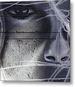 Graffiti Art With Mixed Textures Metal Print