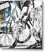 Graffiti Bikes Metal Print
