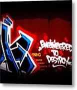 Graffiti - Box Car Art  7097-008 Metal Print