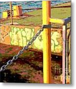 Graffiti Dock Metal Print