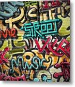 Graffiti Grunge Texture. Eps 10 Metal Print