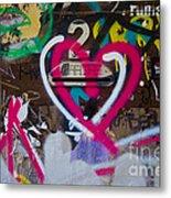 Graffiti Heart Metal Print by Victoria Herrera