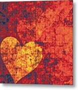 Graffiti Hearts Metal Print