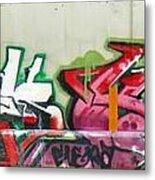 Graffiti Hot Red Hot Pink Metal Print