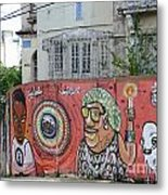 Graffiti In Salvador Metal Print