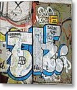 Graffiti In Sozopol Metal Print