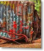 Graffiti On The Wreckage Metal Print