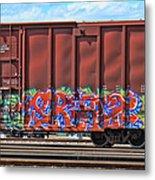 Graffiti - Orange Pop Metal Print