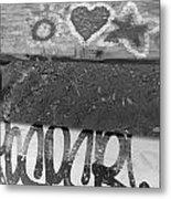 Graffiti Table 2 Metal Print