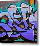 Graffiti Tangled Purple Metal Print