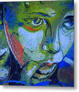 Graffiti Thoughtful Child Metal Print