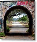 Graffiti Tunnel Metal Print