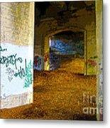 Graffiti Under The Bridge Metal Print