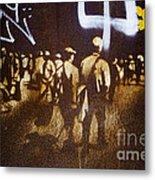 Graffiti Walk Together Metal Print by Victoria Herrera