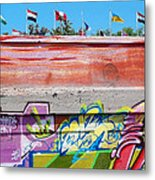 Graffiti With Flags Metal Print