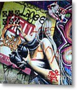 Grafitti Art Florianopolis Brazil 1 Metal Print