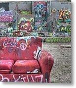Grafitti Couch Metal Print