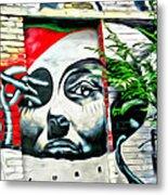 Grafitti Three Lady Metal Print