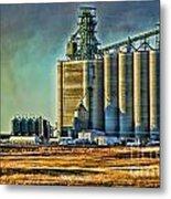 Grain Elevators Metal Print