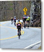 Gran Fondo Bike Ride Metal Print by Susan Leggett